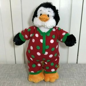 Build A Bear Penguin Plush Christmas PJs
